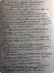 Notes manuscrites pour un discours pour l'adhésion de la Suisse à la SdN